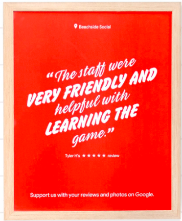 positive review response poster
